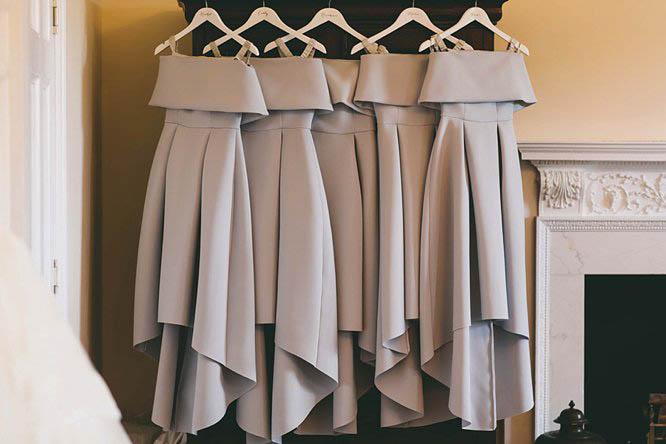 ASOS grey bridesmaids dresses