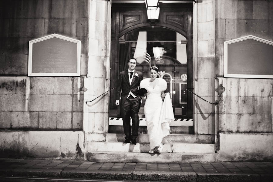 bride and groom leave st vedast alias foster london