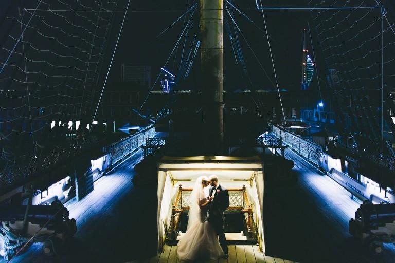 wedding photography hms nelson