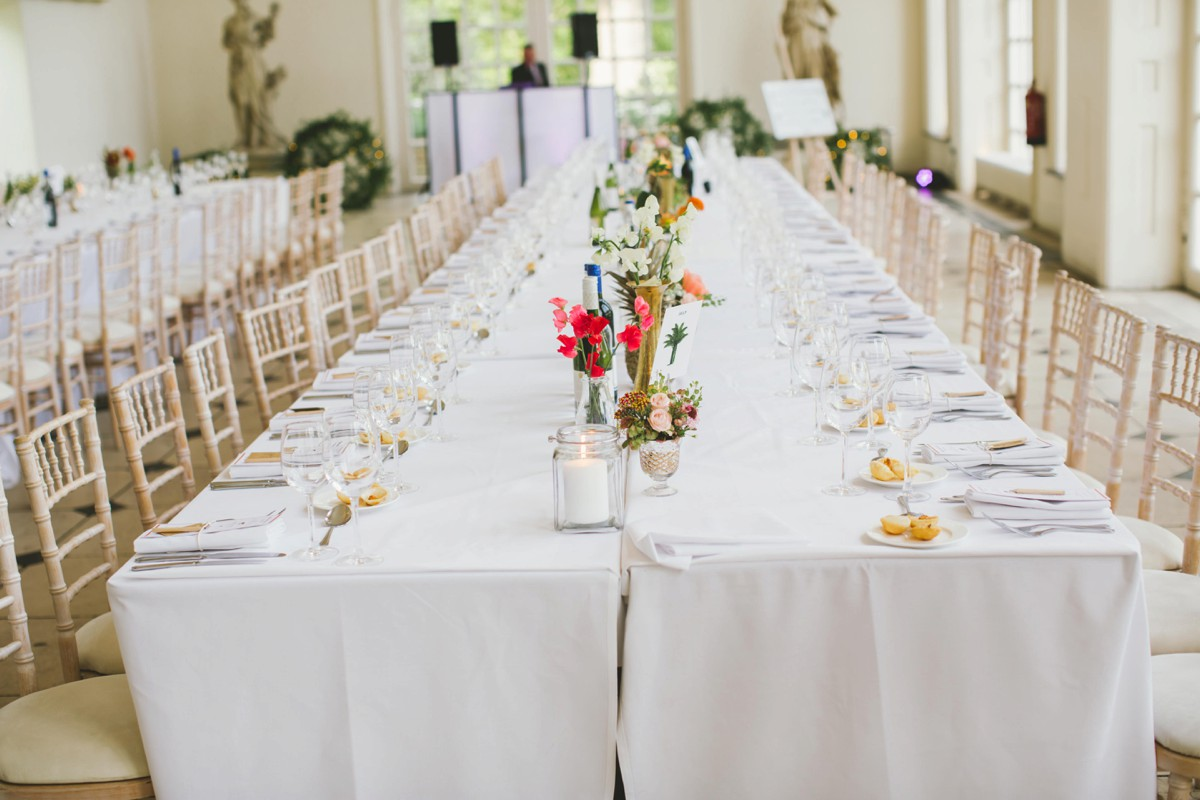 nash conservatory wedding tables