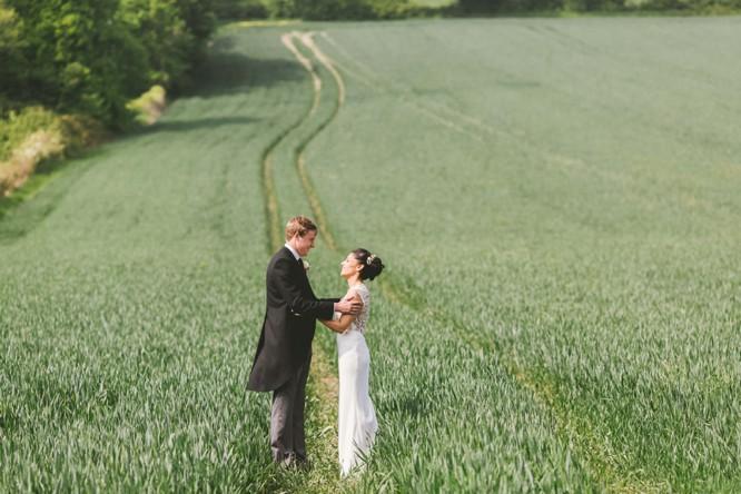 wedding photos in a field in wiltshire