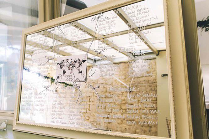 wedding table plan mirrors