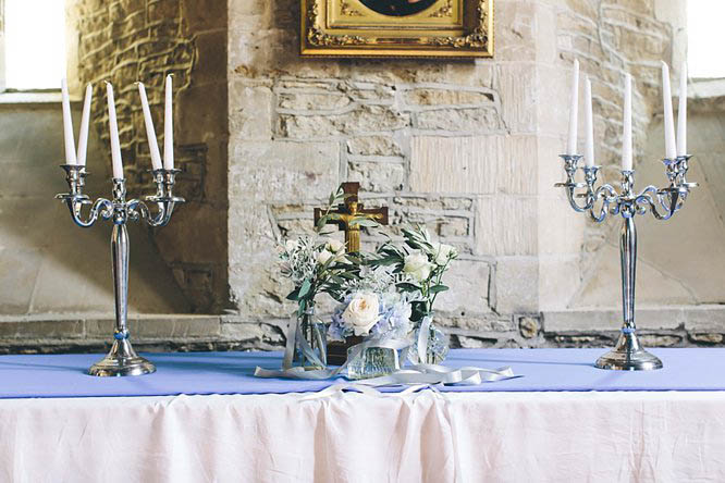 creative florals in cotswold church