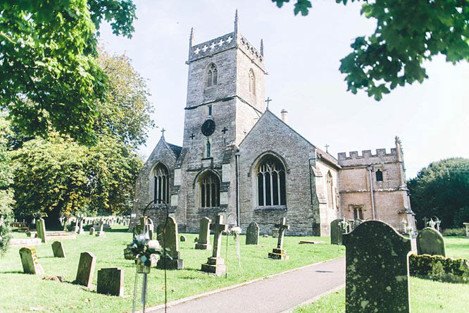 all saints crudwell from the outside