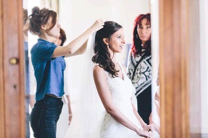 bride wearing ellie sanderson wedding dress
