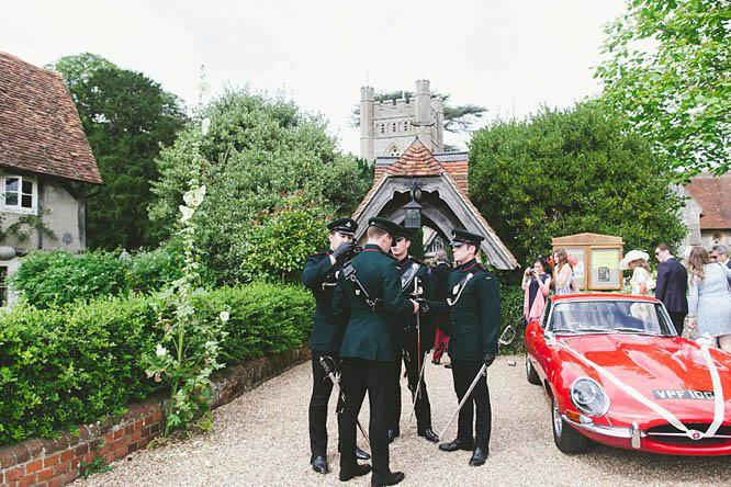 military-wedding-photo-outside-church