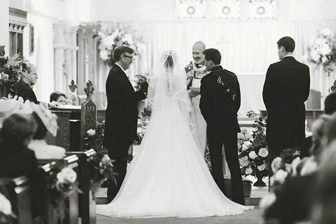 military wedding photographer church