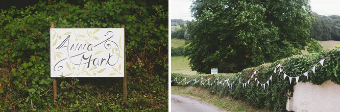 diy wedding signs and bunting