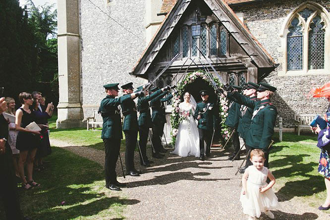 guard of honour wedding with swords