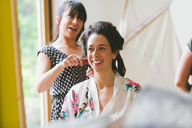 bride hair preparations