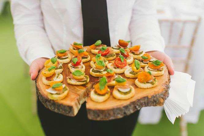 luxury wedding canapés