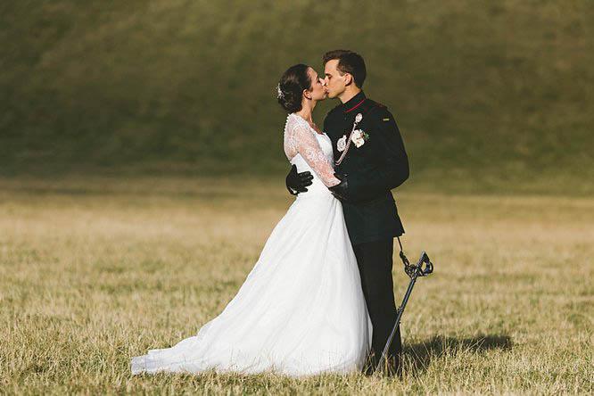 beautiful military wedding photography