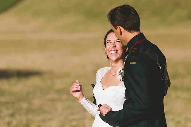 reportage military wedding photography