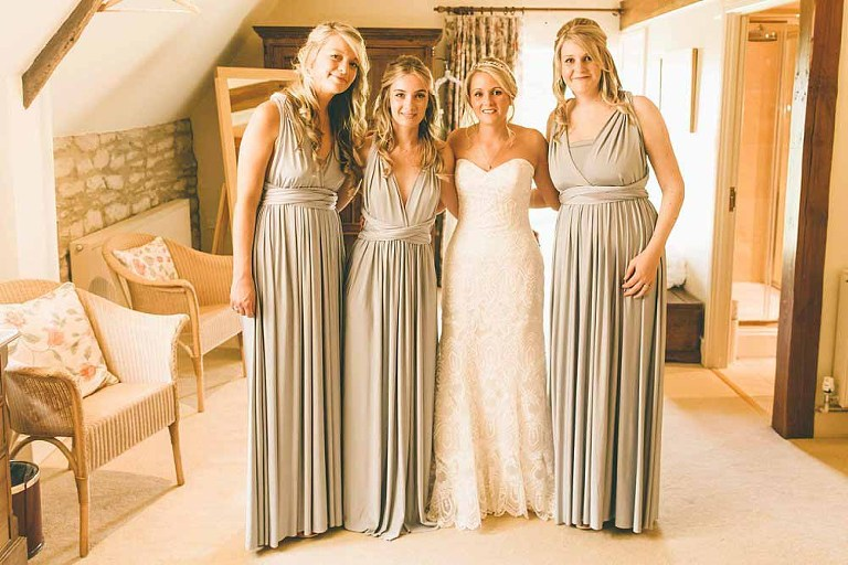 Eliza Ethan full length bridesmaid