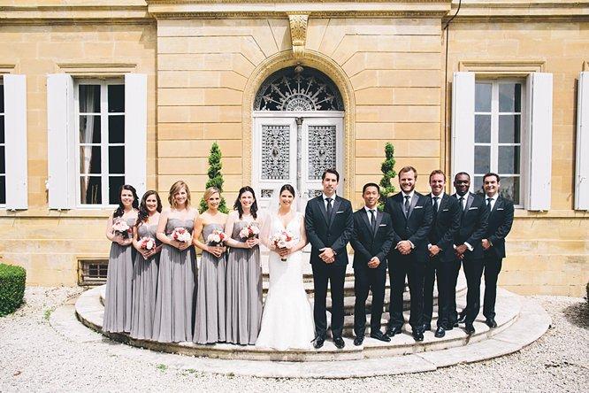 cool bridal party shot garden wedding france