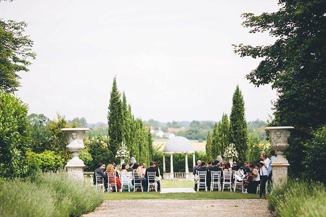 garden wedding french chateau