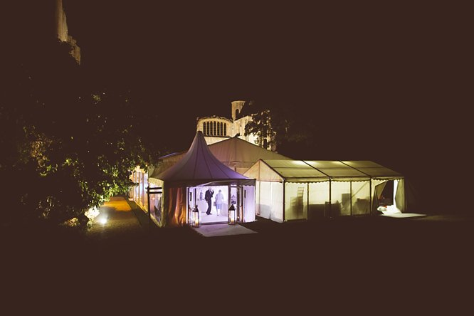 sudeley castle wedding marquee night