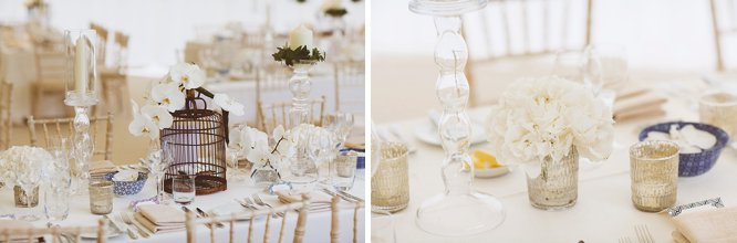 clean white wedding table ideas