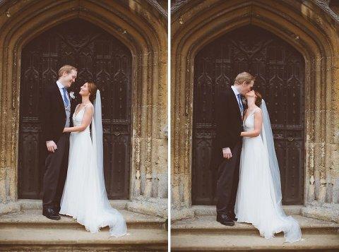 sudeley castle wedding photos with bride and groom