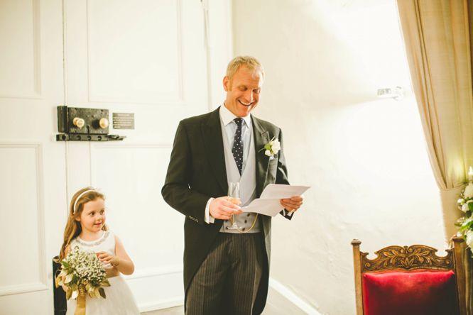 groom laughs at his own speech farnham castle
