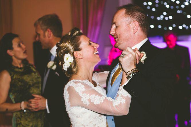 dancing farnham castle wedding photo