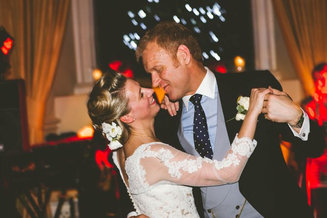 bride and groom dance farnham castle