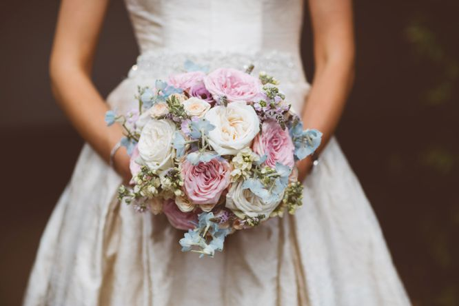 bride with florals from fairy nuff bouquet