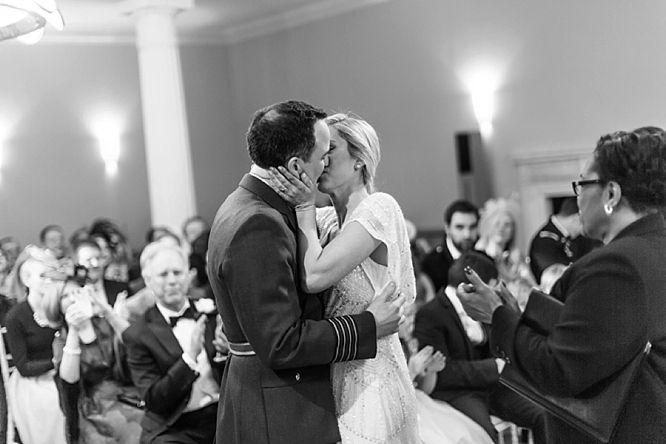 beautiful black white wedding photo london