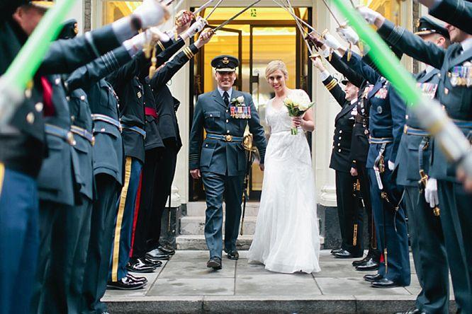 military wedding photo london