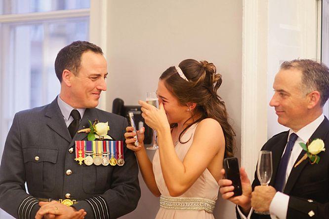 crying bridesmaid at wedding at royal society arts