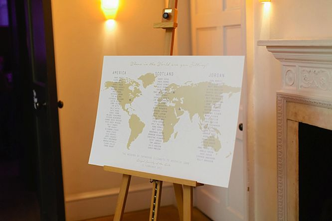 map world wedding table plan