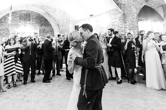 black white first dance photos