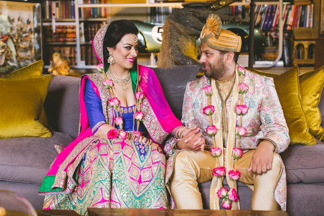 indian bride and groom posing ideas