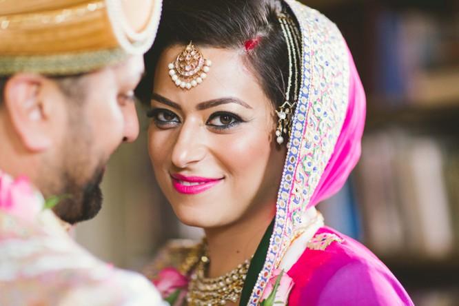 Indian Wedding Couple Posing Photography