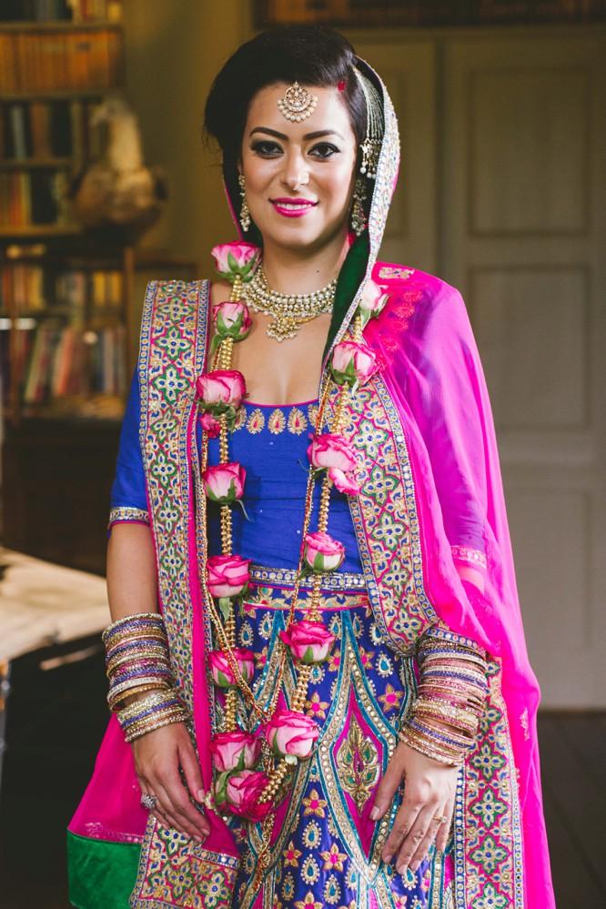 indian bride poses